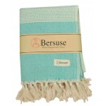 Hierapolis XL Throw Blanket Turkish Towel - 60X95 Inches, Mint Green