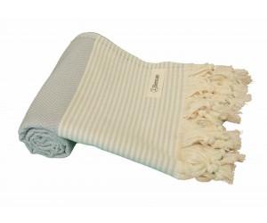 Honeycomb Beach Towel Light Grey