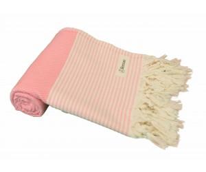 Honeycomb Beach Towel Light Pink
