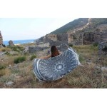 Kona Dual-Layer Turkish Towel -37X70 Inches, Black