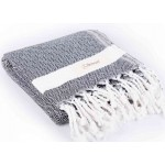 Laodicea Turkish Towel - 39X66 Inches, Black