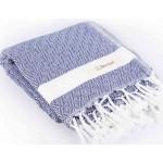 Laodicea Turkish Towel - 39X66 Inches, Dark Blue