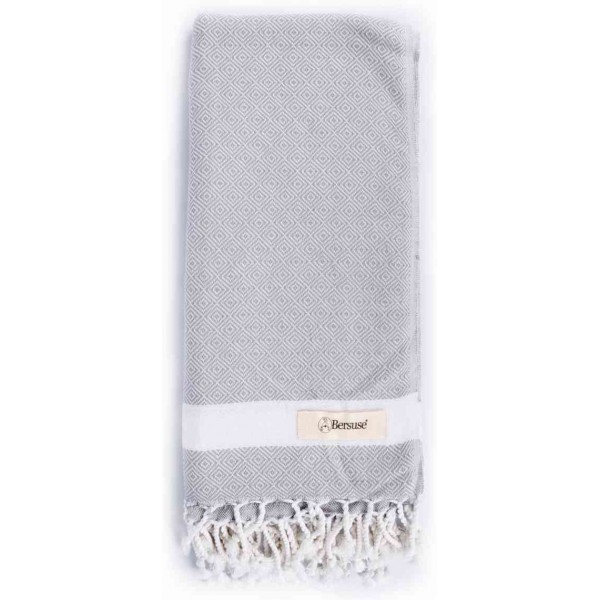 Laodicea Turkish Towel - 39X66 Inches, Silver Grey