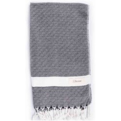 Laodicea Hand Turkish Towel - 21X39 Inches, Black
