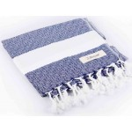 Laodicea Hand Turkish Towel - 21X39 Inches, Dark Blue