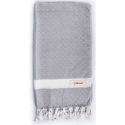 Laodicea Hand Turkish Towel - 21X39 Inches, Silver Grey