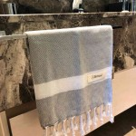 Laodicea Hand Turkish Towel - 21X39 Inches, Silver Grey