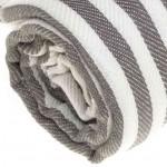Malibu Turkish Towel - 37X70 Inches, Anthracite