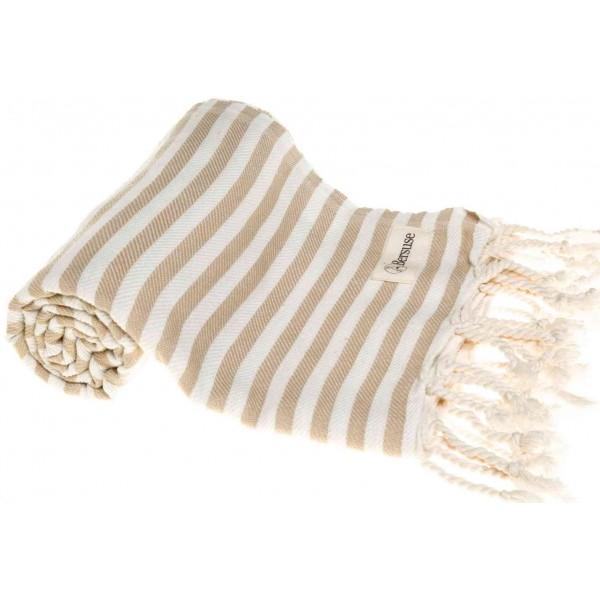 Malibu Turkish Towel - 37X70 Inches, Beige