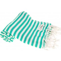 Malibu Turkish Towel - 37X70 Inches, Mint Green