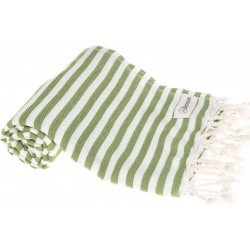 Malibu Turkish Towel - 37X70 Inches, Olive Green