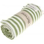 Malibu Turkish Towel - 37X70 Inches, Olive Green