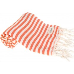 Malibu Turkish Towel - 37X70 Inches, Orange