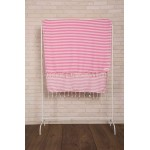 Malibu Turkish Towel - 37X70 Inches, Pink