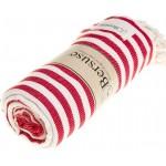 Malibu Turkish Towel - 37X70 Inches, Red