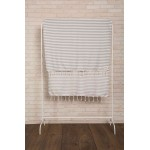 Malibu Turkish Towel - 37X70 Inches, Silver Gray