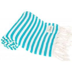 Malibu Turkish Towel - 37X70 Inches, Turquoise