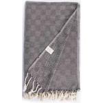 Milas XL Throw Blanket Turkish Towel - 60X90 Inches, Black