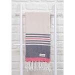 Nova Turkish Towel - 39X79 Inches, Black/Beige