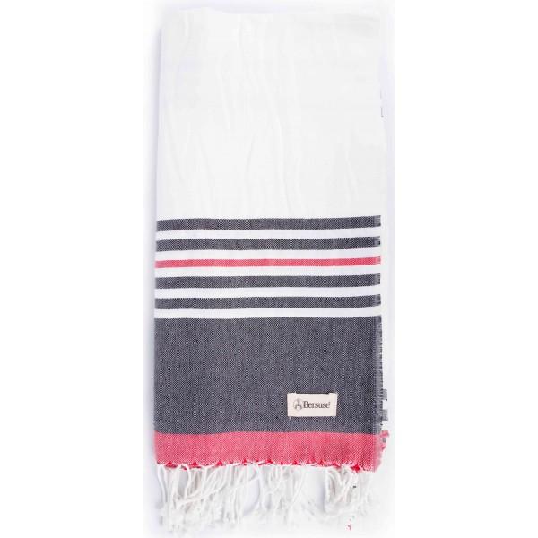 Nova Turkish Towel - 39X79 Inches, Black/White