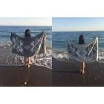 Oaxaca Dual-Layer Turkish Towel -37X70 Inches, Black