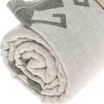 Oaxaca Dual-Layer Turkish Towel -37X70 Inches, Silver Gray