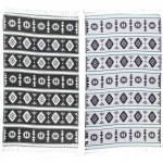 Campeche Organic Turkish Towel - 37X70 Inches, Black/Mint Green