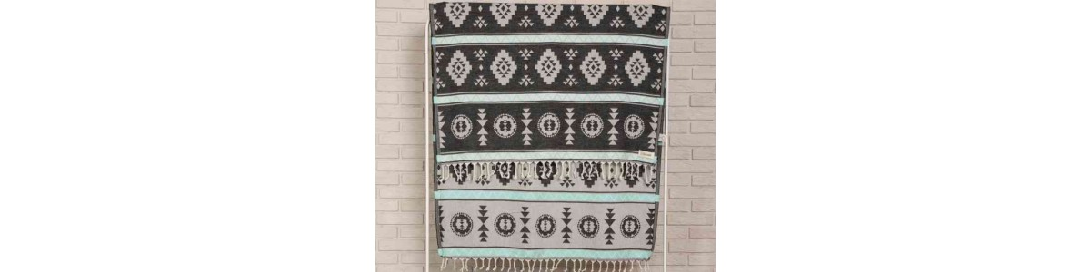 Campeche Beach Towel, Black