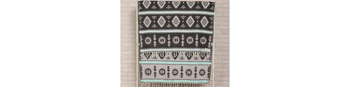 Campeche Beach Towel, Black
