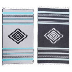 Cancun Organic Turkish Towel - 37X70 Inches, Aqua