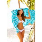 Flamenco Organic Turkish Towel - 37X70 Inches, Aqua
