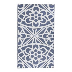Santorini Organic Turkish Towel - 37X70 Inches, Navy
