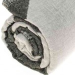 Palenque Dual-Layer Turkish Towel -37X70 Inches, Black