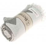 Palenque Dual-Layer Turkish Towel -37X70 Inches, Silver Gray