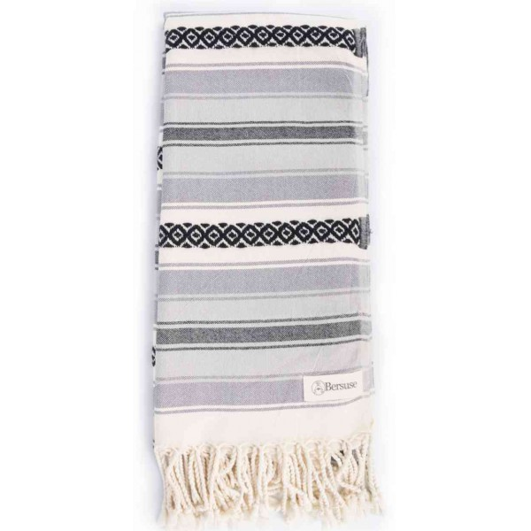 San Jose Turkish Towel - 35X70 inches, Anthracite