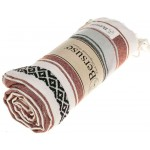 San Jose Turkish Towel - 35X70 inches, Burgundy
