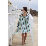 San Jose XL Mexican Style Throw Blanket Turkish Towel - 57X92 Inches, Mint Green