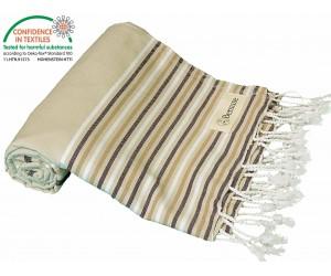 Teos Beach Towel Beige Brown