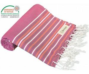 Teos Beach Towel Fuchsia Purple