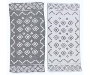 Teotihuacan Aztec Beach Towel Anthracite