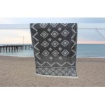 Teotihuacan Dual-Layer Turkish Towel - 37X70 Inches, Anthracite