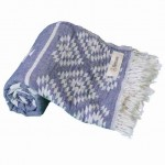 Teotihuacan Dual-Layer Turkish Towel - 37X70 Inches, Dark Blue