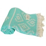 Teotihuacan Dual-Layer Turkish Towel - 37X70 Inches, Pink