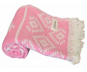 Teotihuacan Aztec Beach Towel Pink