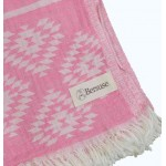 Teotihuacan Dual-Layer Turkish Towel - 37X70 Inches, Mint Green