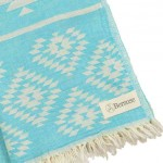 Teotihuacan Dual-Layer Turkish Towel - 37X70 Inches, Turquoise