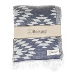 Teotihuacan XL Throw Blanket  - 78X94 Inches, Dark Blue