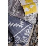 Teotihuacan XL Throw Blanket Turkish Towel - 78X94 Inches, Silver Grey