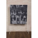 Trinidad Tie Dye Turkish Towel - 38X64 Inches, Black Grey