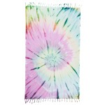 Trinidad Tie Dye XL Throw Blanket Turkish Towel - 61X82 Inches, Colorful